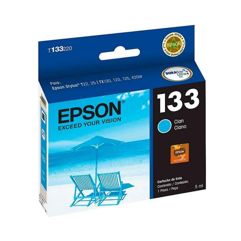 Cartucho Epson T133220-Al Cyan- T25/Tx 125/Tx420w