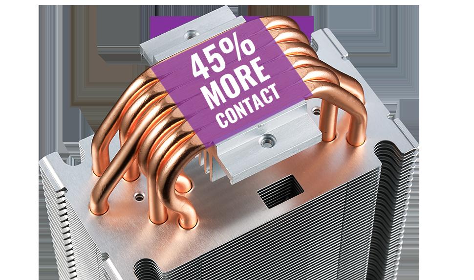 Fan Cooler CPU Cooler Master MA610P RGB AM4 1151 Doble Fan