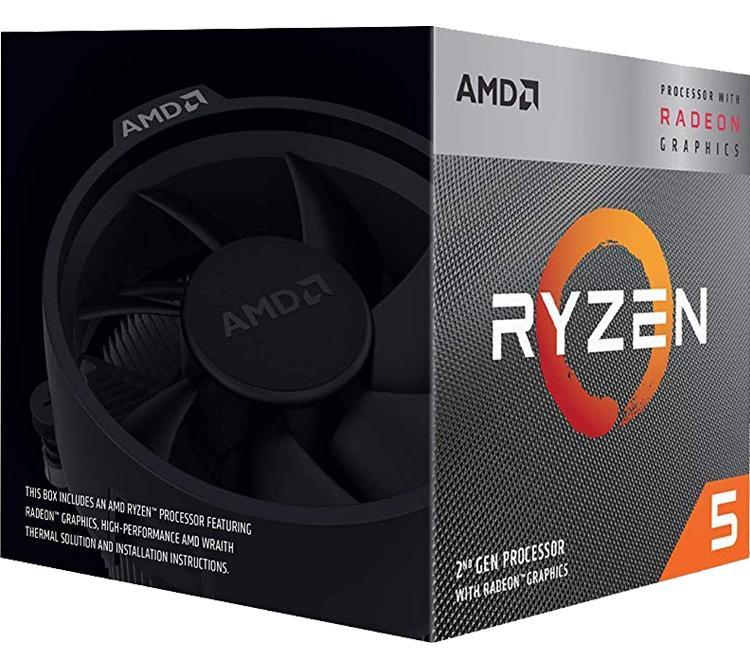 Microprocesador AMD Ryzen 5 3400G Wraith Spire C/G ZEN2 AM4