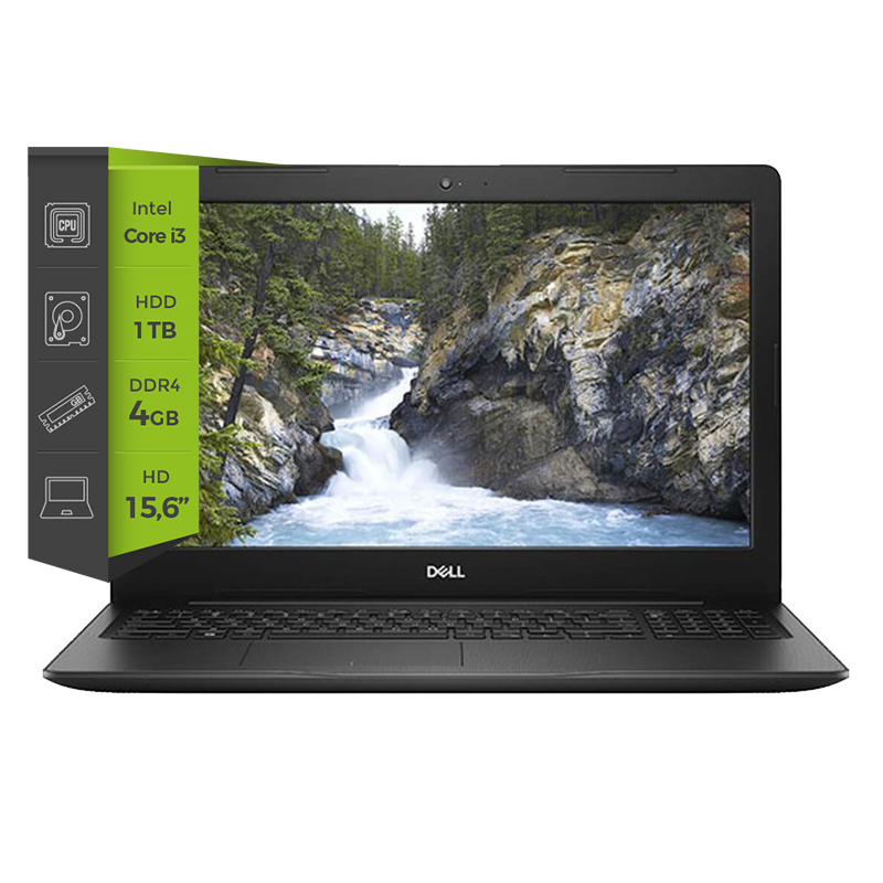 Notebook Dell Inspiron 3581 i3 7020U 4Gb 1Tb 15.6