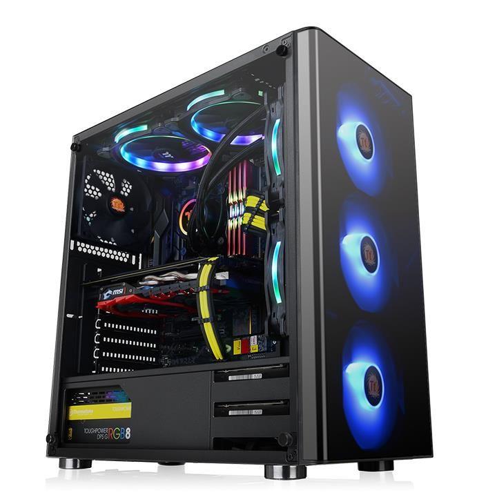 Gabinete Thermaltake V200 RGB TG Templado