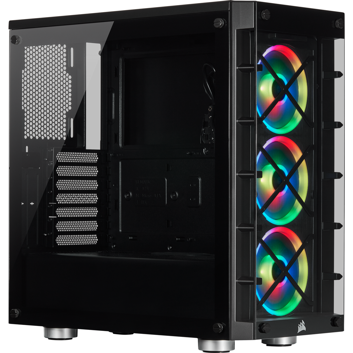 Gabinete Corsair 465X RGB Icue ATX Smart Case Black