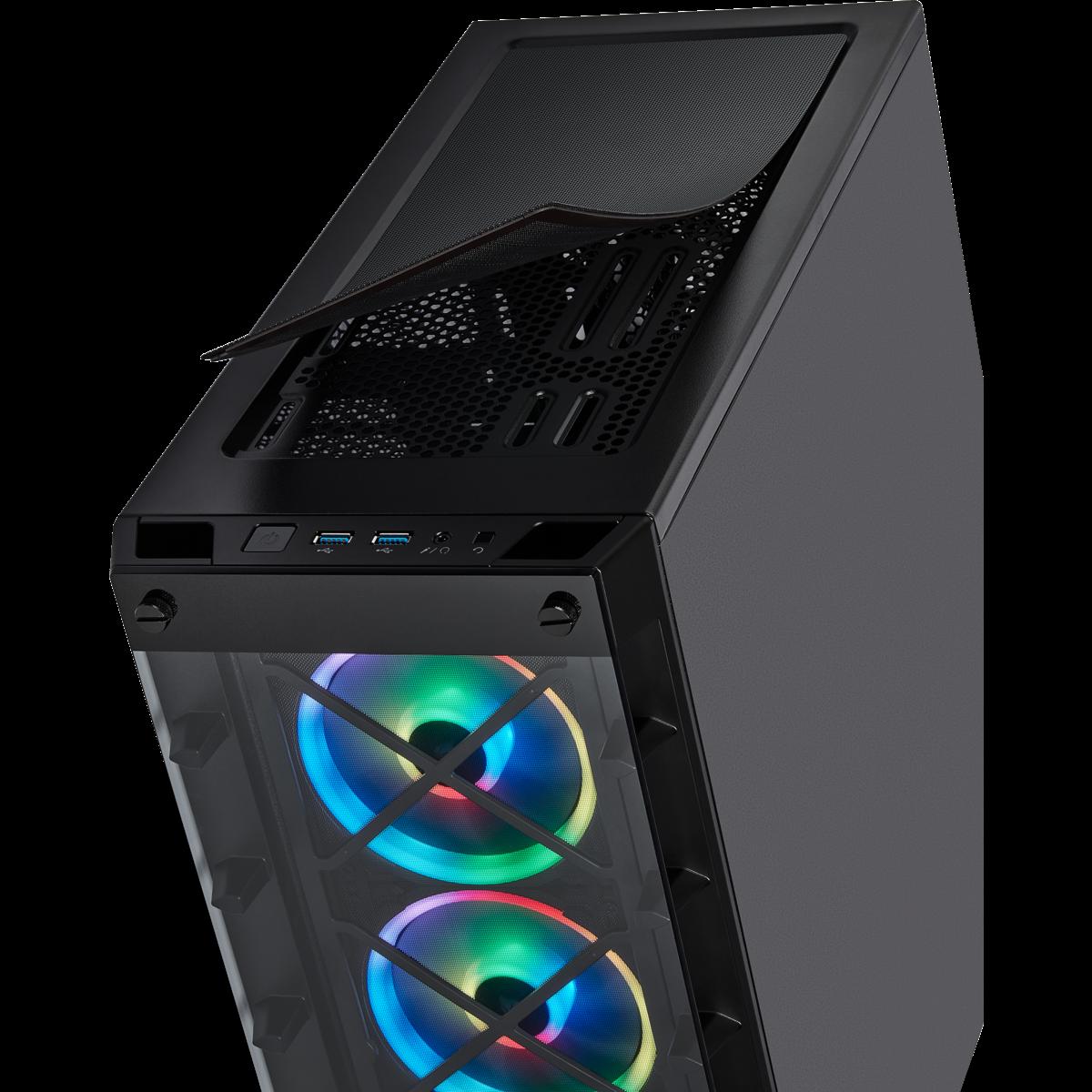 Gabinete Corsair 465X RGB Icue ATX Smart Case Black