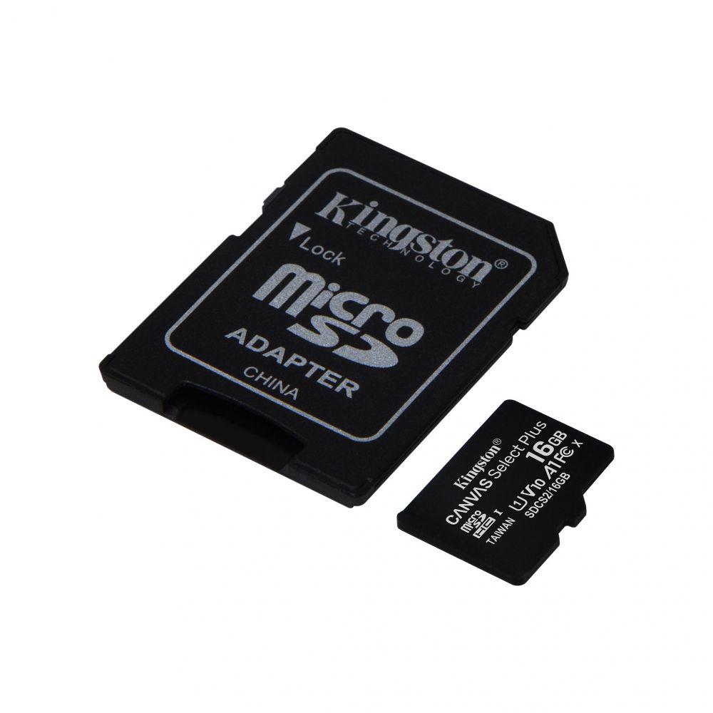 Micro Sd Kingston Con Adaptador 16gb Clase 10 Select Plus
