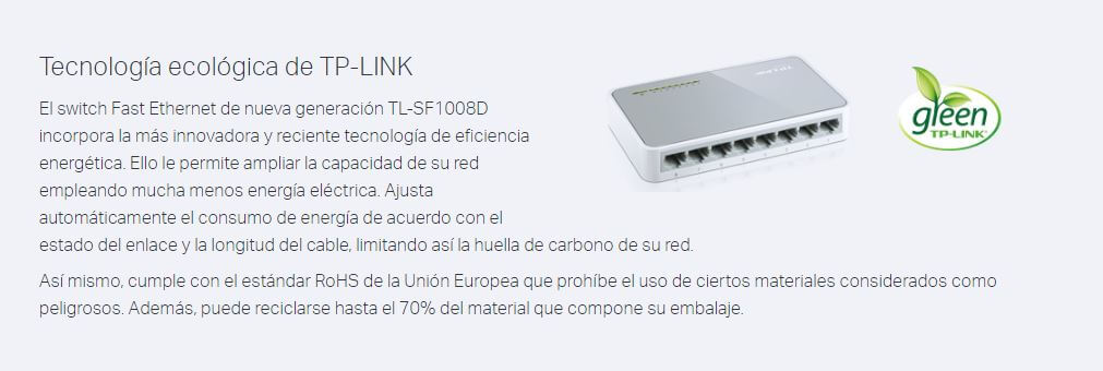 Switch Tp-Link Tl-Sf1008d 8 Puertos 10/100mbps
