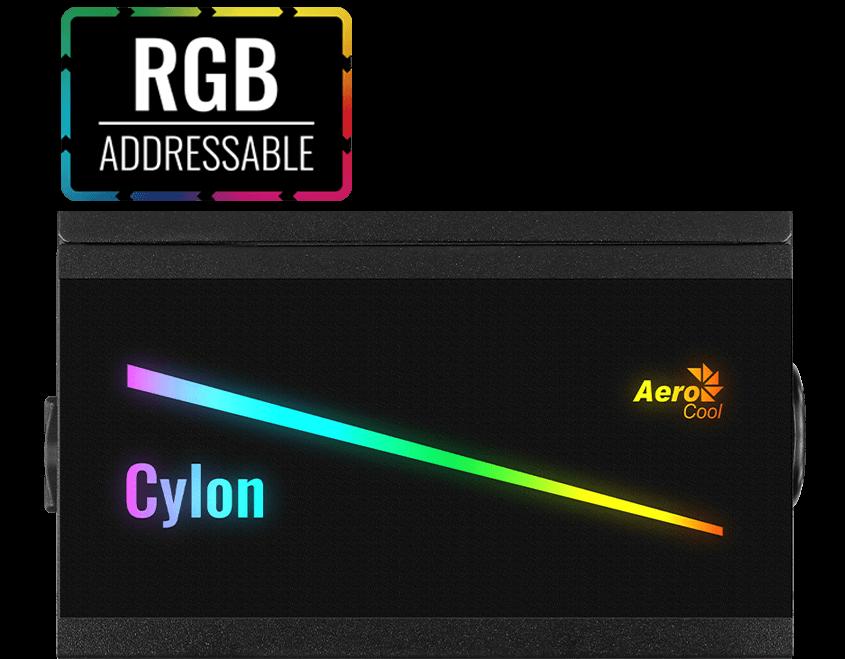 Fuente Aerocool Cylon 500w RGB 80+ Bronze