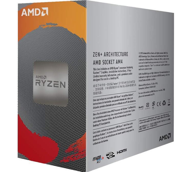 Microprocesador AMD Ryzen 3 3200G Wraith Stealth ZEN2 AM4