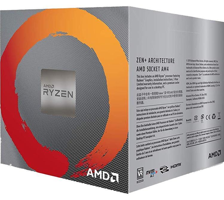 Microprocesador AMD Ryzen 5 3600 4.2Ghz Wraith Stealth S/G ZEN2 AM4