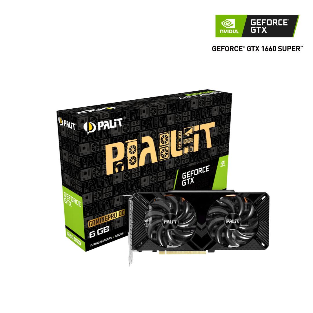 Placa De Video Palit Nvidia Geforce Gtx 1660 Super GP 6Gb