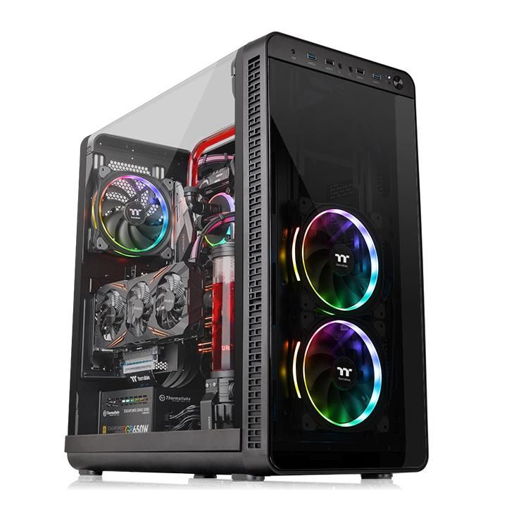 Gabinete Thermaltake View 37 TG ARGB Black