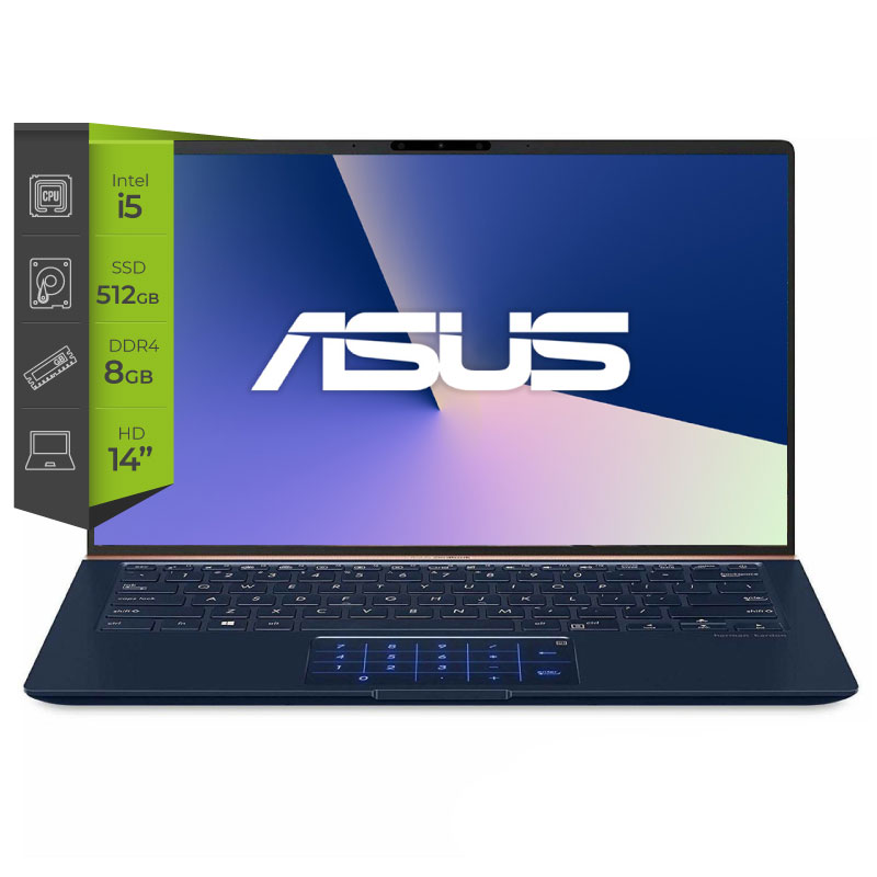 Notebook Asus Zenbook Ux433 i5 10210u 8G Ssd 512Gb 32Gb GeForce MX 250-2G 14