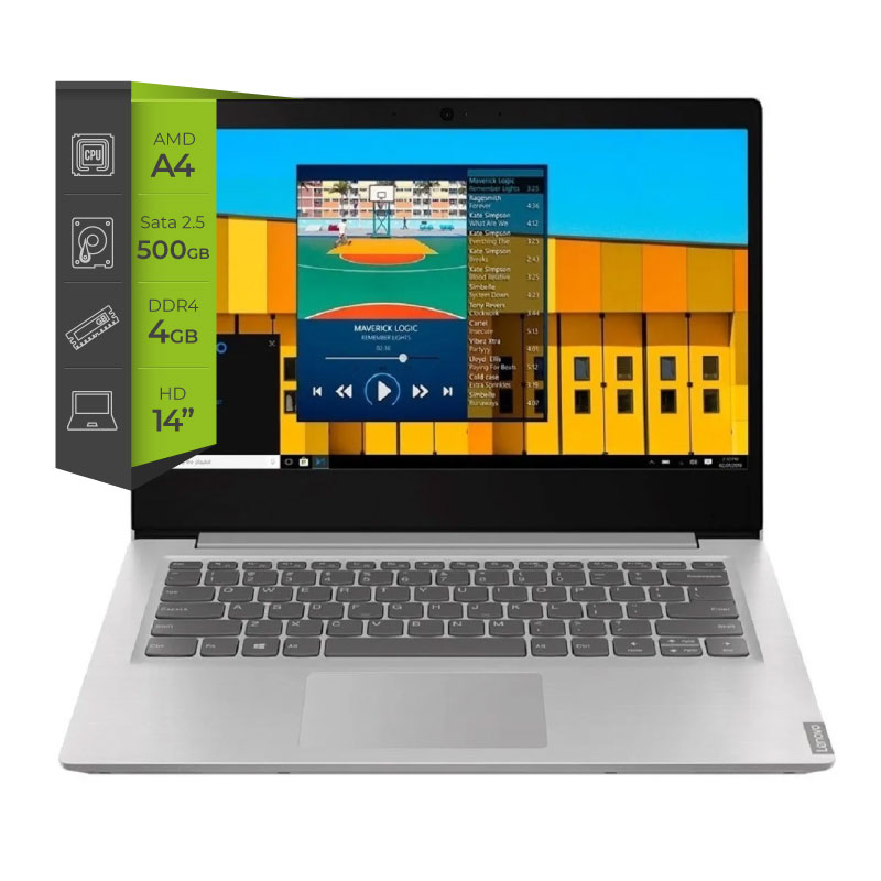 Notebook Lenovo Ideapad S145 A4 9125 4G 500Gb 14