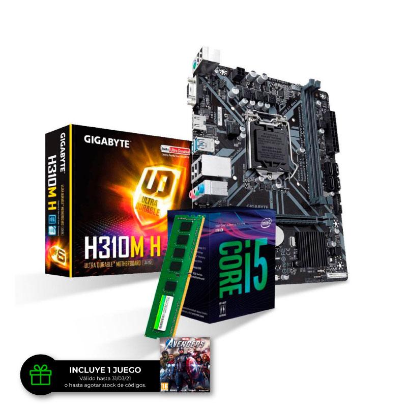 Combo de Actualizacion Intel Core i5 9400 + 8Gb DDR4 + H310M
