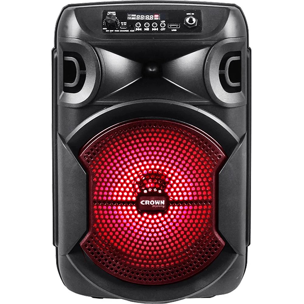Parlante Bafle Amplificado Crown Mustang DJS-820BT 2x8
