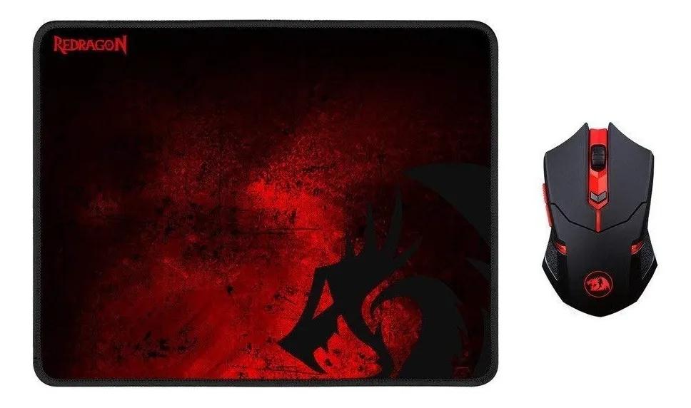 Gaming Kit Mouse + Pad Redragon M601 Wireless