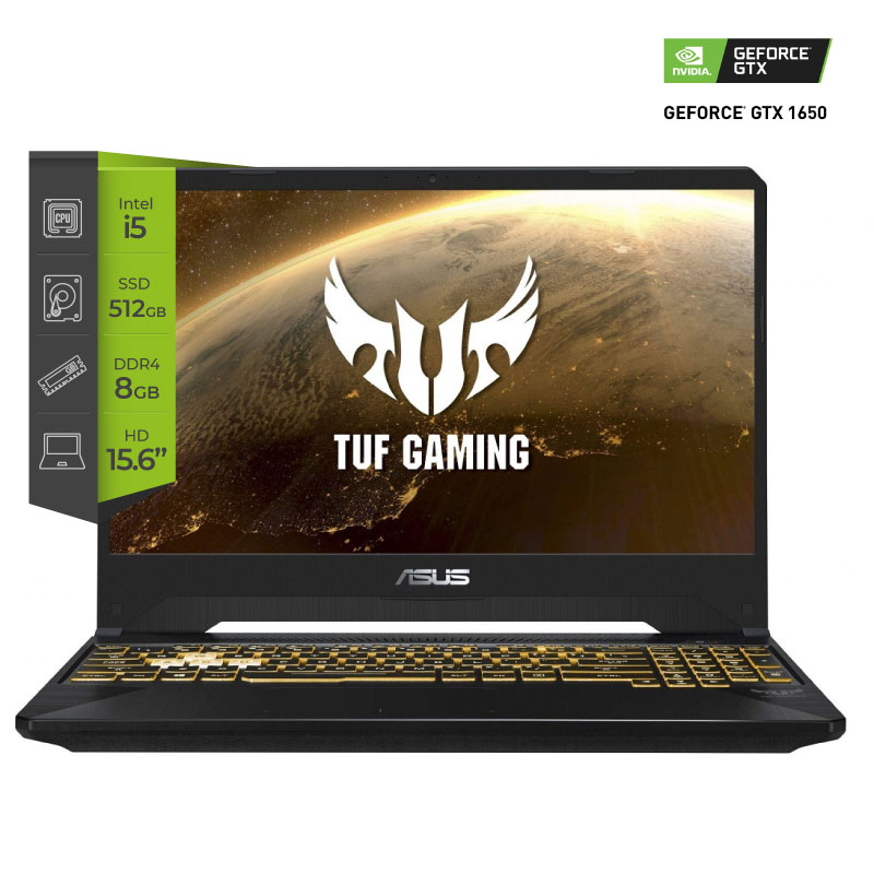 Notebook Asus TUF Gaming FX505GT-BQ073 i5 9300H 8Gb SSD 512Gb GTX 1650 15.6
