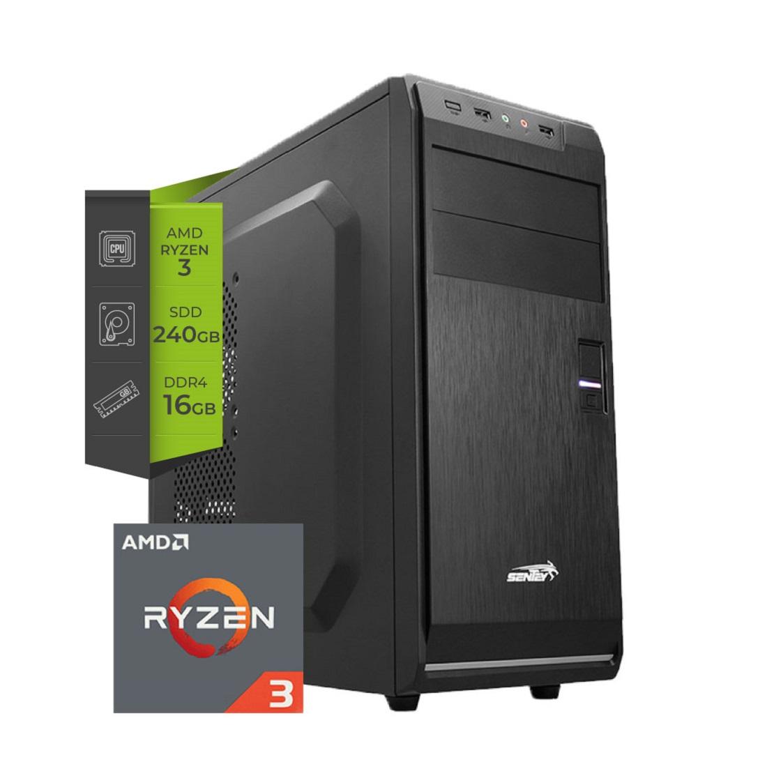 Pc AMD Gamer Ryzen 3 Pro 4350G 16Gb SSD 240Gb (Simil 3400G )