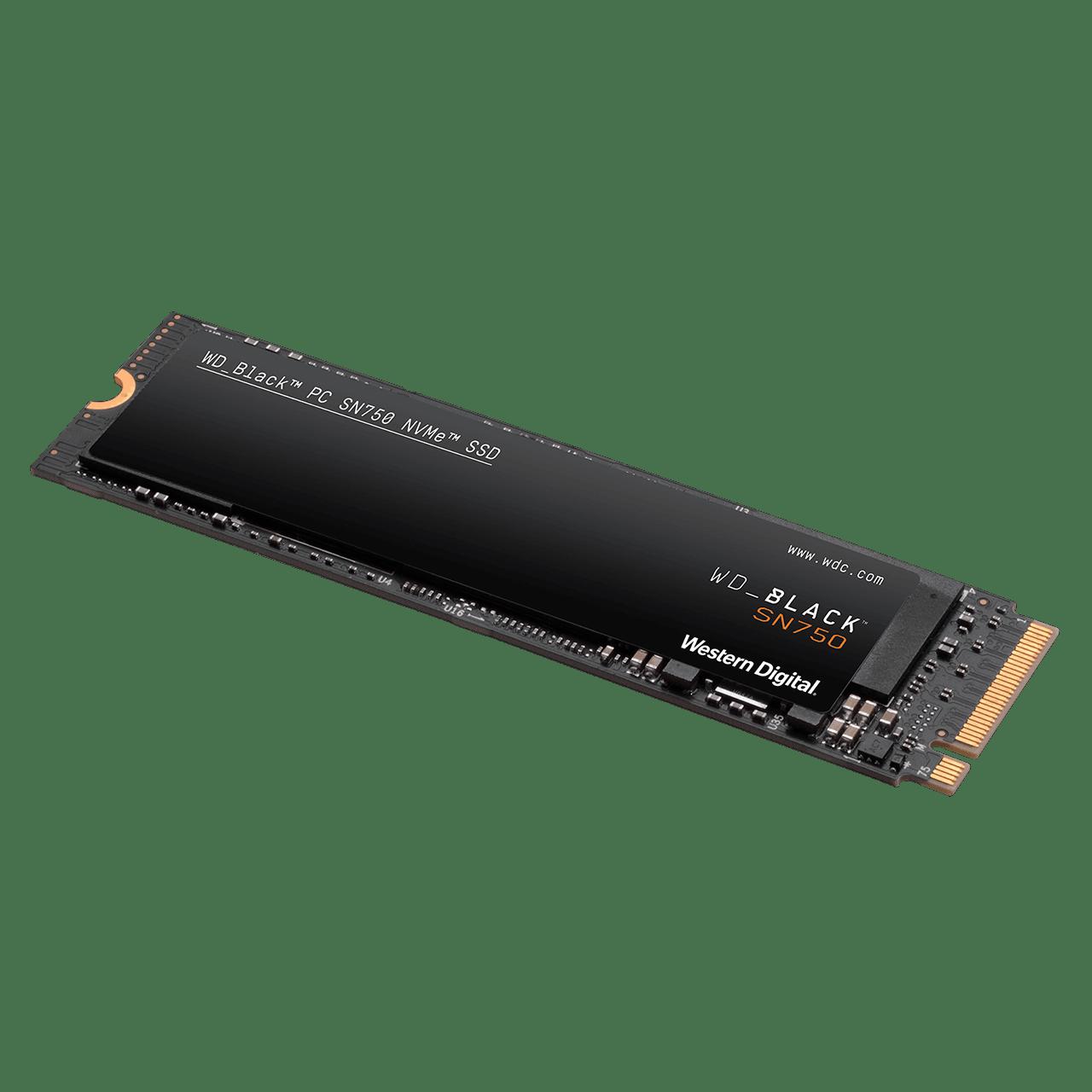 Disco Solido Ssd 250Gb Western Digital WD M2 Nvme SN750 Black