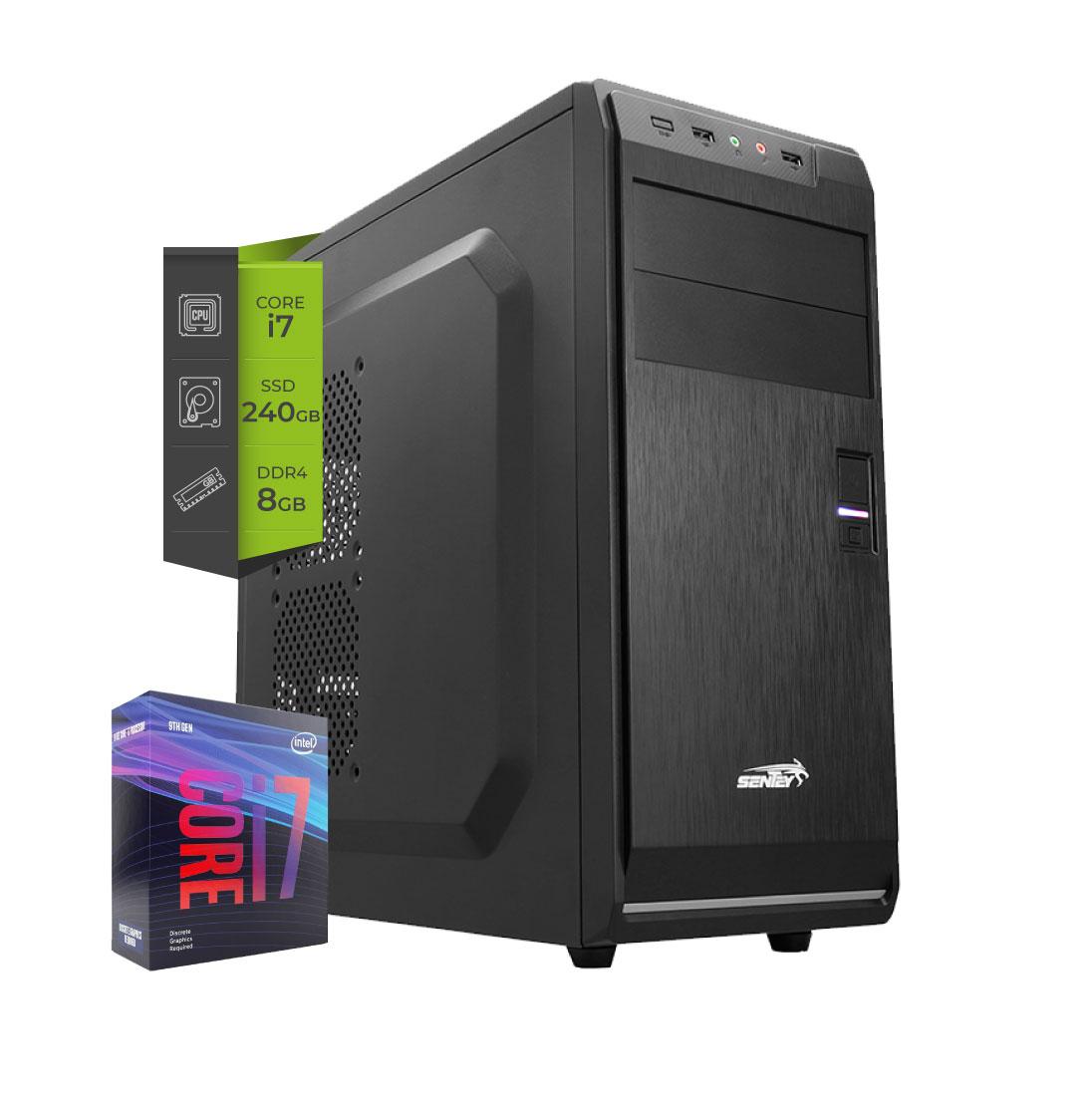 PC Intel I7 9700 Coffelake SSD 240Gb