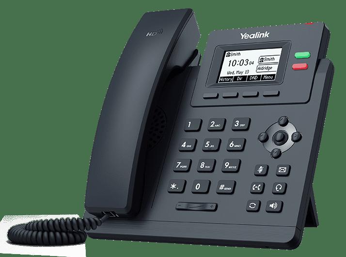 Telefono IP 2 Lineas Giga PoE Yealink SIP-T31G