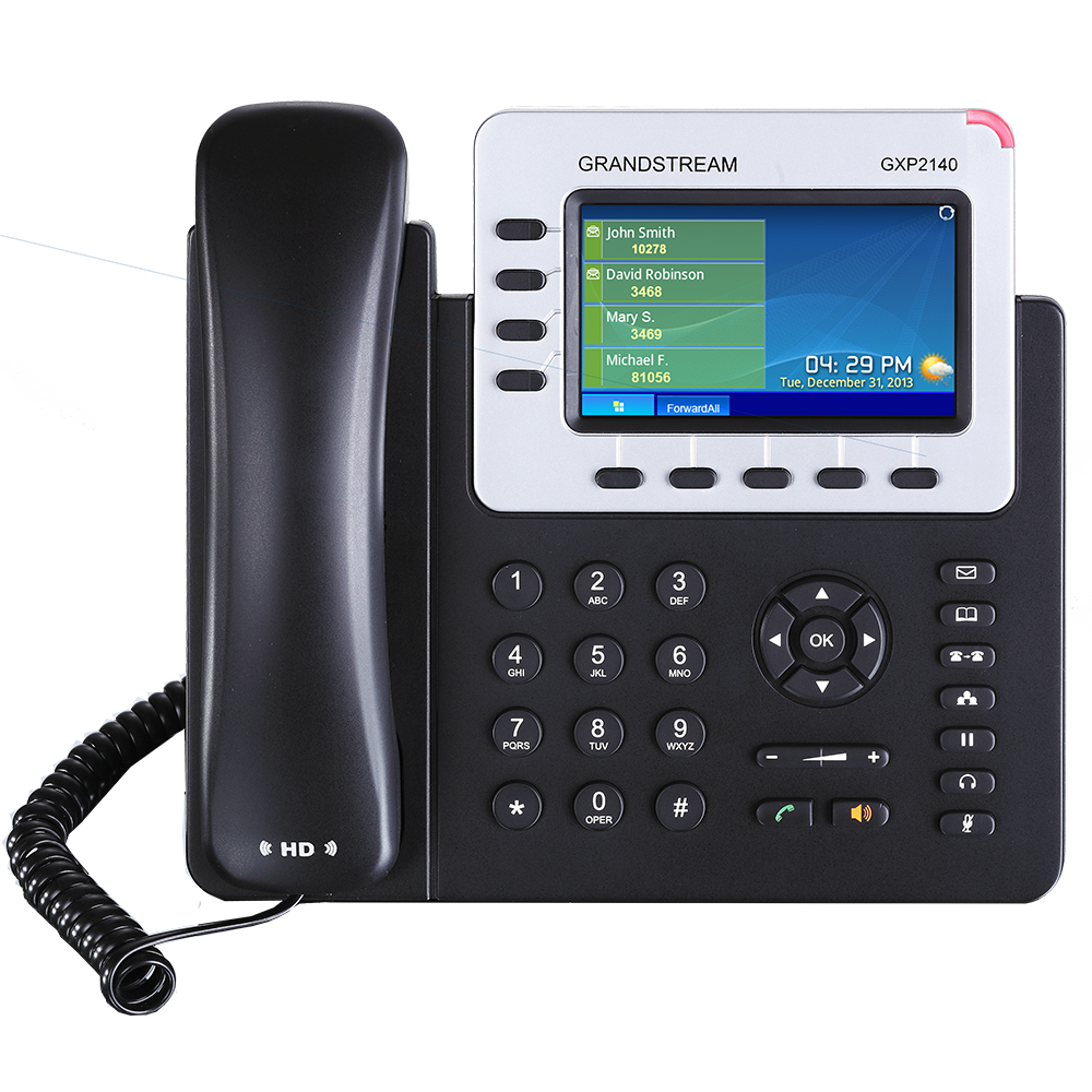 Telefono IP 4 Lineas PoE Gigabit Grandstream GXP2140