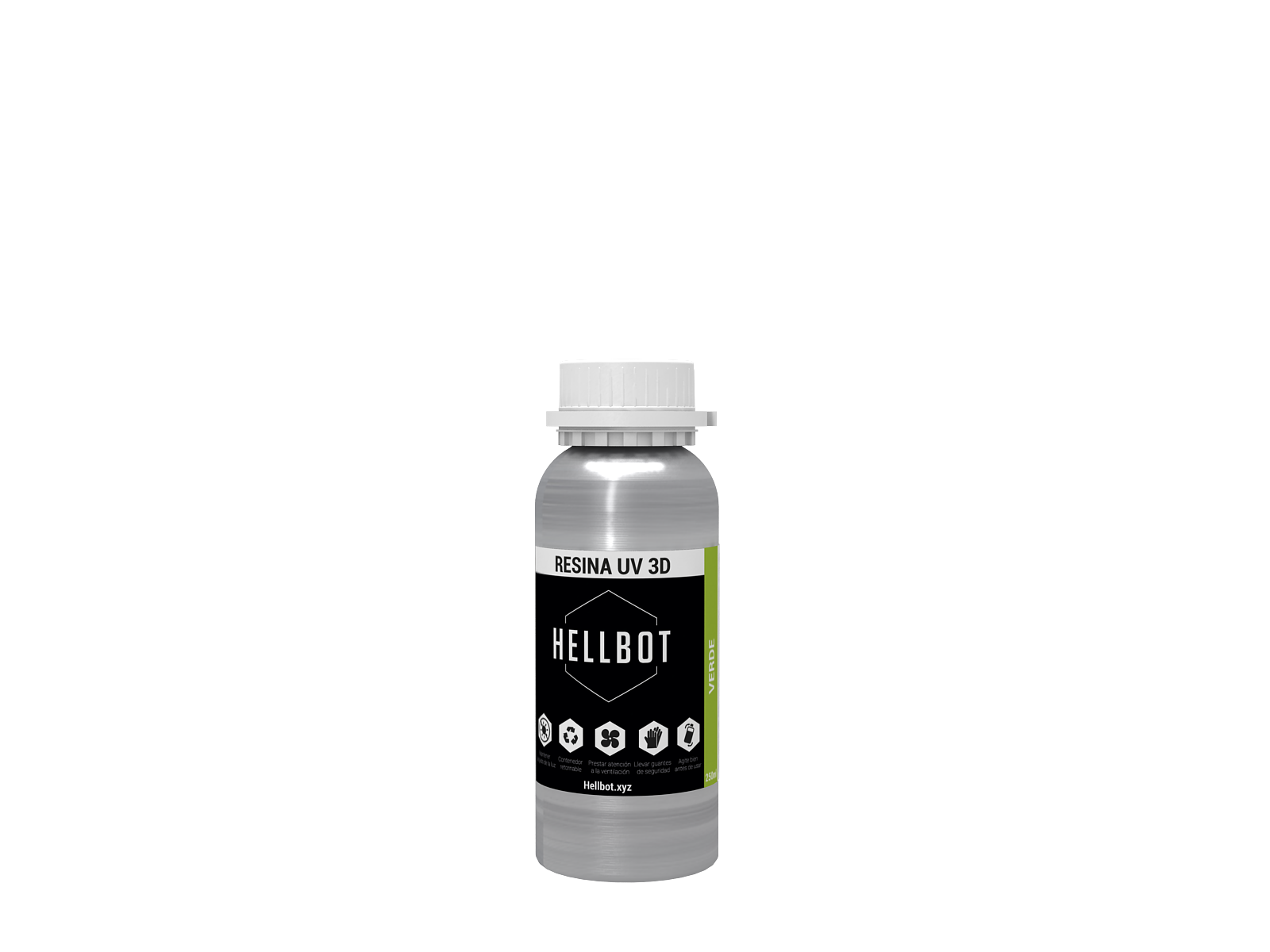 Resina Hellbot Modelo Miniatura 250ML Natural