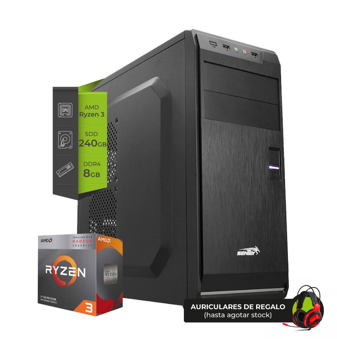 Pc AMD Gamer ZEN Reaper Ryzen 3 3200G Ssd 240Gb 8Gb (2x4GB)