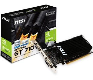 Placa De Video Msi Nvidia GeForce Gt710 2gb Ddr3