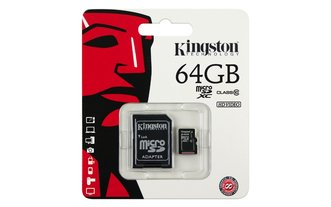 Micro Sd Kingston Con Adaptador Sd 64 Gb Clase 10