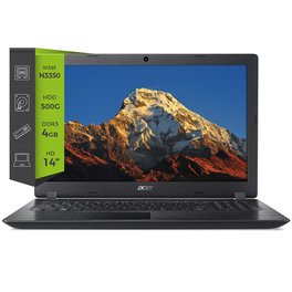 Notebook Acer Aspire A3 N3350 4Gb 500G 14