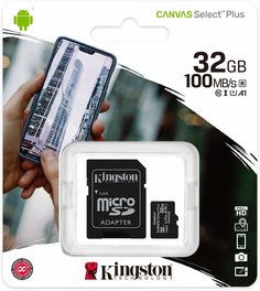 Micro SD Kingston C/Adapatador SD 32Gb Clase 10 Select Plus
