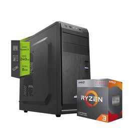 Pc Amd Gamer REAPER Ryzen 3 2200G 8GB Ssd 240Gb