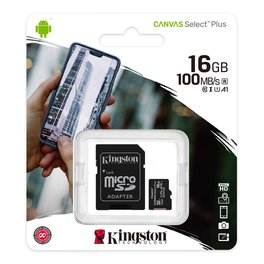 Micro Sd Kingston Con Adaptador 16gb Clase 10 Select Plus