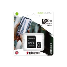 Micro Sd Kingston Con Adaptador 128gb Clase 10 Select Plus