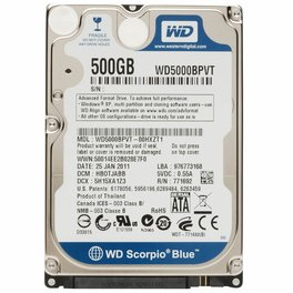 Disco Duro 500 Gb Para Notebook S-Ata 5400 8mb Wd