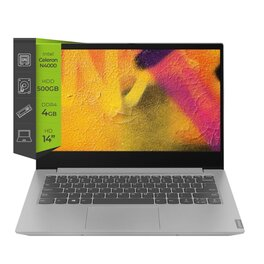 Notebook Lenovo Ideapad S145 N4000 4Gb 500Gb 14 W10