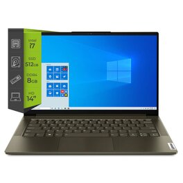 Notebook Lenovo Yoga Slim 7 Intel I7 1065G7 8Gb SSD 512Gb 14