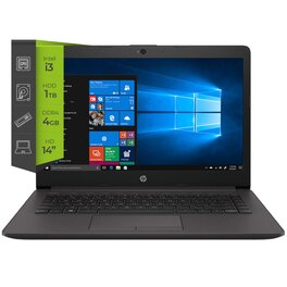 Notebook HP 240 G7 i3 1005G1 4Gb 1Tb 14