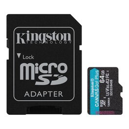 Micro SD 64Gb Kingston Canvas Go Plus 170R A2 U3 V30