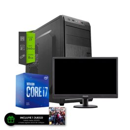 Pc Intel i7 10700 SSD 240Gb 8Gb + Monitor 22