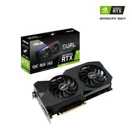 PLACA DE VIDEO ASUS NVIDIA GEFORCE RTX 3060 TI DUAL OC O8G