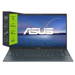 Notebook Asus Zenbook 14 UM425IA-AM003 AMD Ryzen 5 4500U 8Gb SSD 512Gb 14