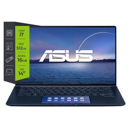 Notebook Asus ZenBook 14 UX434FLC Intel Core i7 10510U 16Gb SSD 512Gb Optane 32Gb GF-MX250-2Gb 14