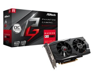 Placa de Video Asrock AMD Radeon RX 570 Phantom Gaming D 8Gb OC